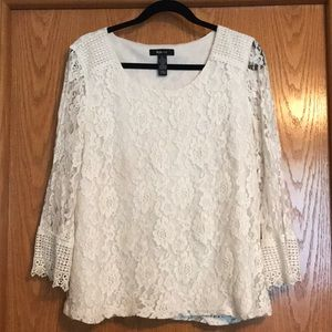 Style & Co. Ivory Lace Women's Blouse